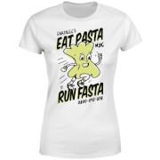 EAT PASTA RUN FASTA Women's T-Shirt - White