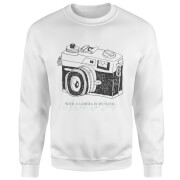 With A Camera In My Hand, I Know No Fear Sweatshirt - White