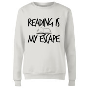 Reading Is My Escape Women's Sweatshirt - White