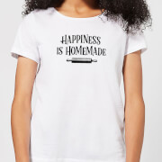 T shirt femme happiness is homemade blanc xs blanc