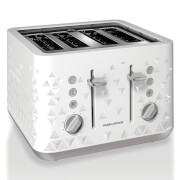 Morphy Richards Prism 4 Slice Toaster - White