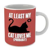 Tasse At Least My Cat Loves Me