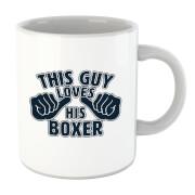 This Guy Loves His Boxer Mug