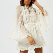 Zimmermann Women's Golden Crinkle Playsuit - Pearl - 1/UK 10 - White
