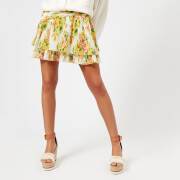 Zimmermann Women's Golden Surfer Skirt - Citrus Stamp Floral - 1/UK 10 - Multi