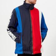 Tommy Jeans Men's Oversize Colorblock Striped Jacket - Black Iris/Multi - L - black/multi