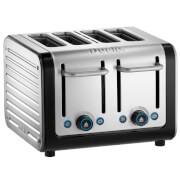 Dualit 46505 Architect 4 Slot Toaster - Brushed Steel/Black
