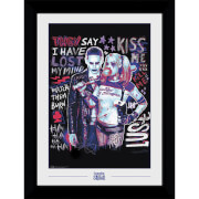 Suicide Squad The Joker and Harley Quin Collector's 50 x 70cm Framed Photograph