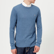 GANT Men's Cotton Pique Crew Neck Sweatshirt - Mid Denim Blue Melange