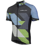 Nalini Rapidita' Short Sleeve Jersey - Grey/Blue/Green