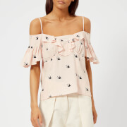 McQ Alexander McQueen Women's Off-the-Shoulder Top - English Rose - IT 42/UK 10 - Pink
