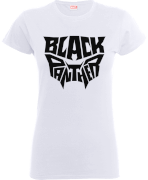 Black Panther Emblem Frauen T-Shirt - Weiß