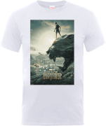 Black Panther Poster T-shirt - Wit