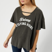 Wildfox Women's Staying Home Short Sleeve T-Shirt - Pigment Black