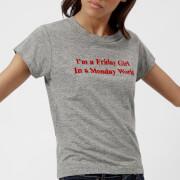 Wildfox Women's Friday Girl Short Sleeve T-Shirt - Grey Heather