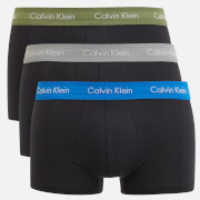 Calvin Klein Men's 3 Pack Trunk Boxer Shorts - Black/Olivine Black/Skyview Black/Medium Grey