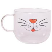 Tiergesichts-Glastasse - Katze