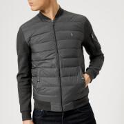 Polo Ralph Lauren Men's Mixed Fabric Bomber Jacket - Windsor Heather - XXL - Grey