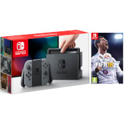 Nintendo Switch Console with Grey Joy-Con – Includes Fifa 18