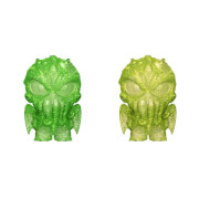 H.P Lovecraft Cthulhu Green and Yellow Hikari XS Vinyl Figure 2 Pack
