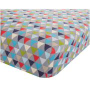 Catherine Lansfield Geo Fitted Sheet - Multi