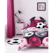 Catherine Lansfield Neon Football Duvet Set - Pink