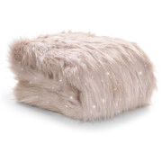 Catherine Lansfield Metallic Fur Throw - Blush - 130 x 170cm