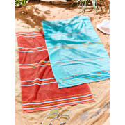 Catherine Lansfield Rainbow Pair Beach Towels - Red