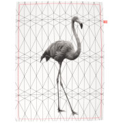 Cotton Tea Towel - Flamingo Stretched Hexagon