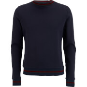 Brave Soul Men's Paris Tipped Sweatshirt - Dark Navy