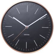 Karlsson Minimal Wall Clock - Black with Copper Case