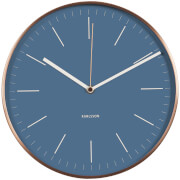 Karlsson Minimal Wall Clock - Jeans Blue with Copper Case