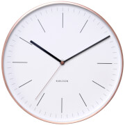 Karlsson Minimal Wall Clock - White with Copper Case