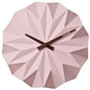 Karlsson Origami Ceramic Wall Clock - Matt Soft Pink