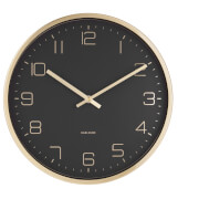 Karlsson Gold Elegance Wall Clock - Black