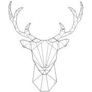 Present Time Linea Deer Memo Rack - Black