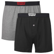 Levi's Men's Long Jersey 2 Pack Boxers - Caviar