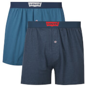 Levi's Men's Long Jersey 2 Pack Boxers - Dark Blue