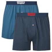Levi's Men's Long Jersey 2 Pack Boxers - Dark Blue