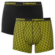 Head Men's 2 Pack Honeycomb Print 2 Pack Boxers - Yellow/Black