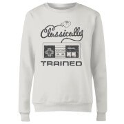 Retro NES Classically Trained Damen Pullover - Weiß