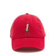 Rick and Morty Men's Mr. Poopy Embroidery Cap - Red