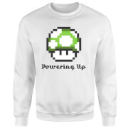 Sweat Homme Super Mario Powering Up - Nintendo - Blanc