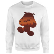Sweat Homme Super Mario Silhouette Goomba - Nintendo - Blanc