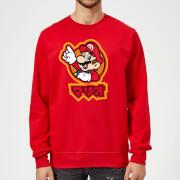 Nintendo Super Mario Mario Kanji Pullover - Rot