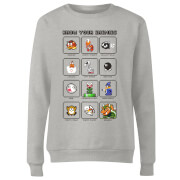 Nintendo Know Your Enemies Women's Sweatshirt - Grey