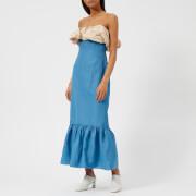 Rejina Pyo Women's Allegra Dress - Linen Dark Sky Blue/Beige - UK 12 - Multi