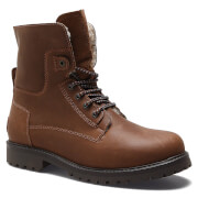 Wrangler Men's Aviator Roll Down Suede Lace Up Boots - Chestnut