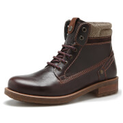 Wrangler Men's Hill Tweed Leather Lace Up Boots - Dark Brown - UK 11/EU 45 - Brown