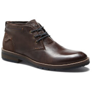 Wrangler Men's Boogie Leather Desert Boots - Dark Brown - UK 10/EU 44 - Brown